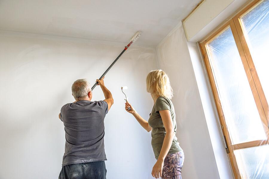 Decke Streichen Zimmerdecke Richtig Ausmalen Anleitung Tipps